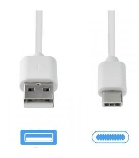 Cable de datos usb-usb tipo-c grab'n go gng-194 blanco - 2a - 2m