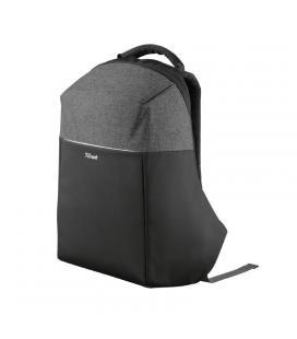 Mochila trust nox anti-theft backpack negra para portátil de hasta 16'/40.64cm - antirrobo - asa transporte - compartimentos