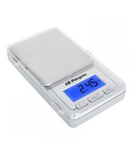 Báscula electrónica de precisión orbegozo pc 3000 plata - lcd - 13mm - conversión de unidades - capacidad max 100gr - funciona