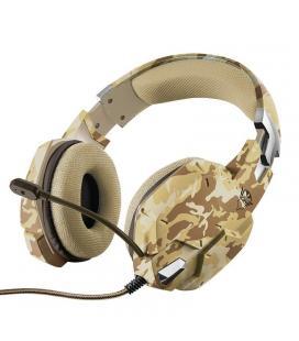 Auriculares con micrófono trust gaming gxt 322d desierto camuflaje - mando de volumen en auricular - botón silencio en