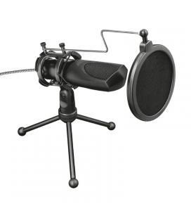Micrófono usb para streaming trust gaming gxt 232 mantis - micrófono omnidireccional - cancelación eco - incluye trípode -