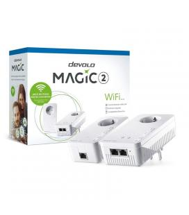 Kit plc/powerline devolo magic 2 wifi - mesh wifi - 300mbps por wifi - 1200/2400 mbps por cable - ethernet - 2*toma schuko