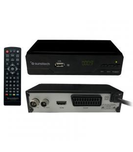 Receptor tdt sobremesa sunstech dtb210hd2 - dvb-t2 - autobusqueda canales - usb grabador - hdmi - scart - mando a distancia