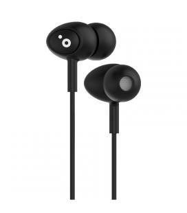 Auriculares intrauditivos sunstech pops black - 100-10000hz - micrófono integrado - jack 3.5mm - cable 1.2m