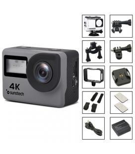 Cámara deportiva sunstech adrenaline4k - full hd-4k/30fps - lente gran angular - 16mpx - pantalla lcd 5cm/tft 1.77cm - - Imagen