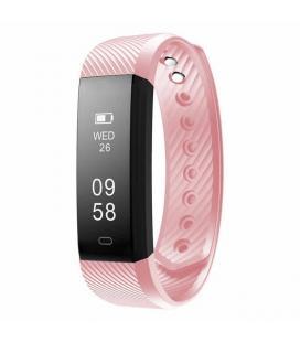 Pulsera cuantificadora sunstech fitlife pink - pantalla oled 96*32mm - bt4.0 - bat 60mah - resistente al agua hasta 1m -