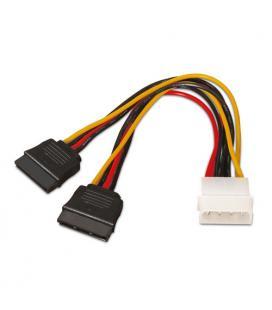 Cable alimentación SATA. Molex 4-Pin/M-2xSATA/H. 20cm. - Imagen 1
