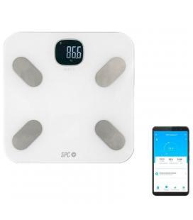 Báscula de análisis corporal inteligente wifi atenea fit blanca - monitorización más de 15 parámetros medición - generación
