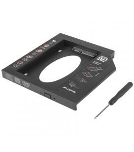 Adaptador para portátil lanberg if-sata-13 - para sustituir dvd slim por hd/ssd de 2.5'/6.35cm 9.5mm - incluye destornillador y