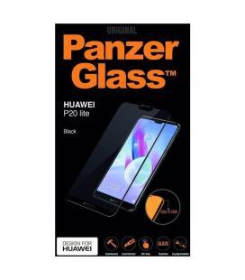 Protector de pantalla panzerglass 5298 para huawei p20 lite - marco negro - cristal templado 0.4mm - para superficie no curva