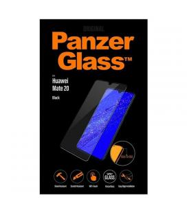 Protector de pantalla panzerglass 5323 para huawei mate 20 - marco negro - cristal templado 0.4mm - para superficie no curva