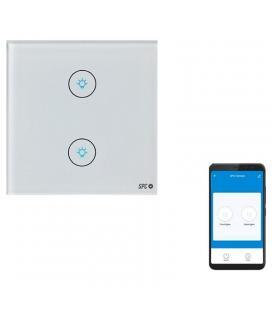 Doble interruptor inteligente spc hemera - wifi 2.4 ghz - potencia máxima 800w - app spc iot - Imagen 1