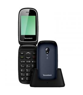 Teléfono móvil sunstech celt17 blue - pantalla lcd 2.4'/6.09cm - agenda 300 contactos - botón sos - cámara trasera - fm - bt -