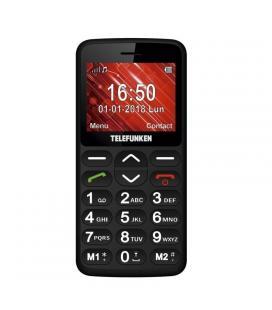 Teléfono móvil libre telefunken tm 140 cosí black - pantalla 2.3'/5.8cm - teclas grandes - cam 0.3 mpx - bt 2.1 - ranura