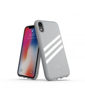 Carcasa adidas original fw18 gris/blanca compatible con iphone xr - Imagen 1