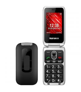 Teléfono móvil libre telefunken tm 240 cosí black - pantalla 2.6'/6.6cm - teclas grandes - botón sos - cámara - microsd - func.