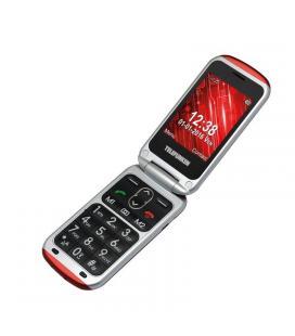 Teléfono móvil libre telefunken tm 240 cosí red - pantalla 2.6'/6.6cm - teclas grandes - botón sos - cámara - microsd - func.