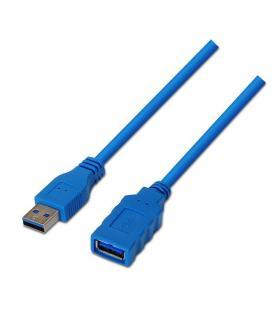 Cable alargador usb 3.0 aisens a105-0046 - tipo a macho-tipo a hembra - 2m - azul