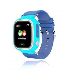 Reloj inteligente con localizador para niños leotec kids way azul - pantalla lcd táctil - gps - microsim - botón sos/llamada - I
