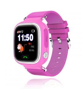 Reloj inteligente con localizador para niños leotec kids way rosa - pantalla lcd táctil - gps - microsim - botón sos/llamada - I