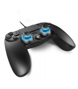Mando para ps4 spirit of gamer pro - cruceta precisión - 2 sticks analógicos - 16 botones - touchpad - cable 2.5m - compatible