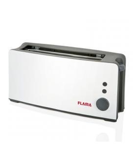 Tostador de pan flama 958fl blanco - 900w - ranura extra ancha - termostato 6 posiciones - funciones descongelar y stop - Imagen