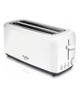 Tostador de pan flama 947fl blanca - 1450w - 2 ranuras extra anchas - termostato 6 posiciones - funciones recalentar / - Imagen
