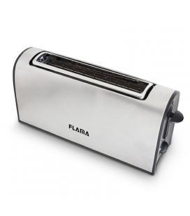 Tostador de pan flama 968fl acero inox - 1000w - ranura extra ancha - termostato 6 posiciones - funciones recalentar / - Imagen