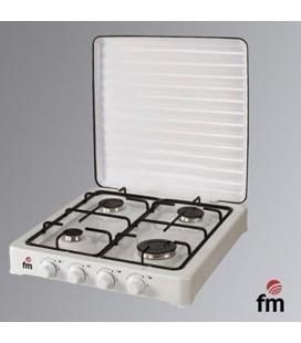 Hornillo fm hg-400 - 4 quemadores - gas butano/propano - parrilla y quemador desmontables - acabado en esmalte vitrificado -