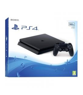 Consola sony playstation 4 slim 500gb bk - mando inalámbrico dualshock 4 - cable hdmi - cable usb - auricular - cable