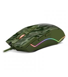 Raton spirit of gamer elite-m50 army edition - 500-4000dpi - 8 botones - iluminacion led rgb - cable usb 1.9m