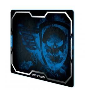 Alfombrilla spirit of gamer blue smokey skull xl - 43.5*32.3cm - textura ultrafina - base antideslizante - Imagen 1
