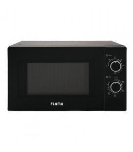 Microondas con grill flama 1888fl negro - 700w / grill 1000w - 20l - 5 programas automáticos - función descongelación