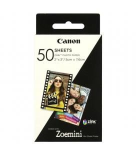 50 hojas papel fotográfico adhesivo canon zink para zoe mini - 2*3'/5*7.6cm