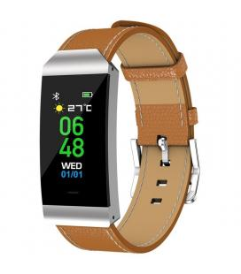 Pulsera cuantificadora denver bfh-250 brown - bt - pantalla 2.4cm color - frecuencia cardiaca - notificaciones - bat 90mah -