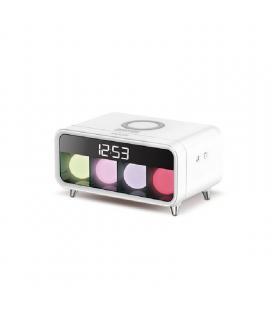 Despertador daewwoo dcd250 - alarma - carga inlámbrica - 4 luces decorativa rgb - Imagen 1