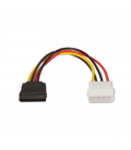 Adaptador de alimentación nanocable 10.19.0205 - conector molex macho 5 1/4 a sata 15 pin - 16cm - Imagen 3