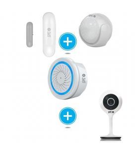 Kit de seguridad spc 6909k compuesto por sensor inteligente aperio + sensor movimiento kinese - alarma wifi sonus + cámara - Ima
