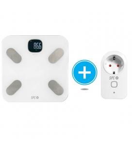 Kit spc 6918k compuesto por báscula inteligente atenea blanca + enchufe inteligente clever plug