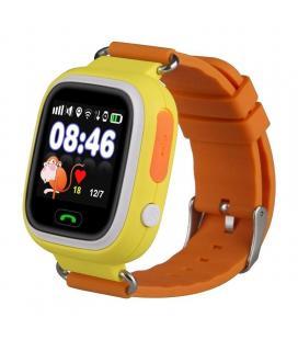 Reloj inteligente con localizador para niños leotec kids way naranja - pantalla lcd táctil - gps - microsim - botón sos/llamada