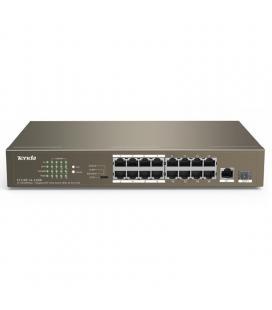 Switch tenda tef1118p-16-150w - 16 puertos 10/100 (datos/poe) - 1 puerto 10/100/1000 (datos) - 1 puerto 100/1000 sfp - potencia