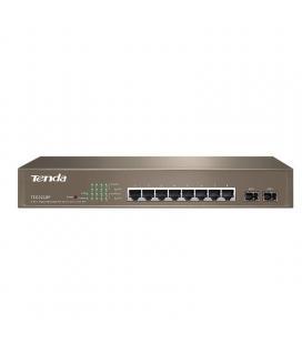 Switch tenda teg3210p - gestionable - 8 puertos 10/100/1000 (datos/poe) - 2 puertos sfp - vlan - alimentación externa -