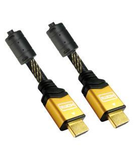 Nanocable CABLE HDMI V1.4 (ALTA VELOCIDAD / HEC) CON FERRITA, A/M-A/M, ORO, 5.0 M