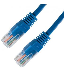 Nanocable CABLE RED LATIGUILLO RJ45 CAT.5E UTP AWG24, AZUL, 0.5 M