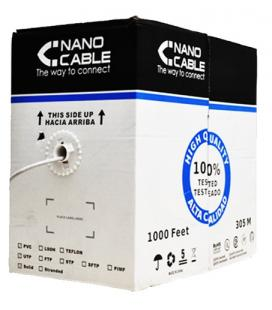 Nanocable CABLE RED RJ45 CAT.5E UTP FLEXIBLE AWG24, 305 M