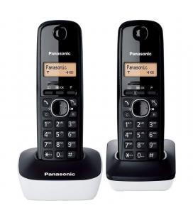 Teléfono inalámbrico dect panasonic kx tg1612jtw negro/blanco - pack dúo - identificación llamadas - pantalla 3cm - Imagen 1