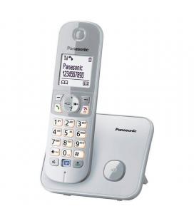 Teléfono inalámbrico dect panasonic kx tg6811jts plata - lcd 4.5cm - indentificacion de llamadas - agenda 120 registros