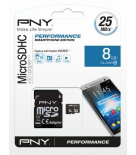 MICROSD + ADAPTADOR SD PNY HIGH PERFORMANCE 8GB (CLASE 10)