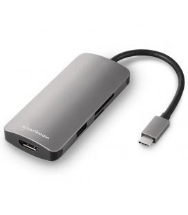 HUB USB SHARKOON 3X3.0 TYPE C + HDMI ALUMINIO GRIS OSCURO