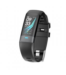 Pulsera de actividad muvit io health electro negra - pantalla lcd color 2.44cm - ecg - multideporte - pulsómetro -